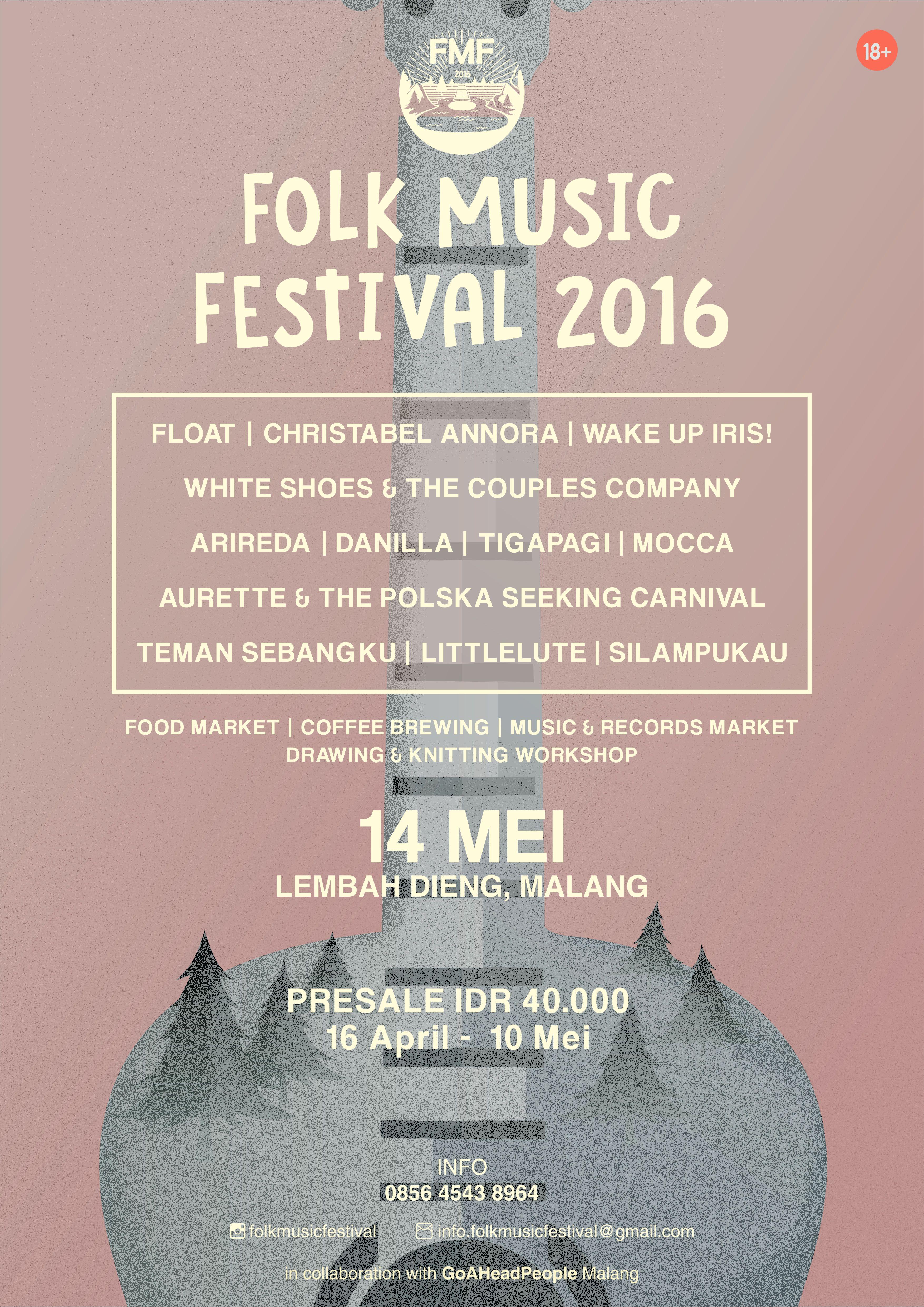FOLK MUSIC FESTIVAL 2016 (Lembah Dieng, Malang)