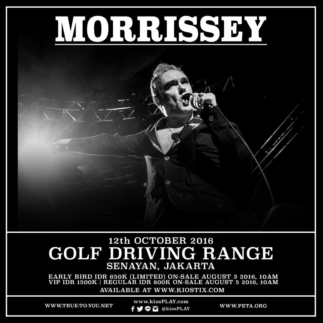 Konser Morrissey Untuk Kedua Kalinya Digelar di Jakarta