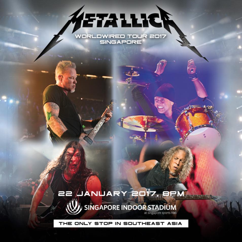 Metallica live in Singapore 2017